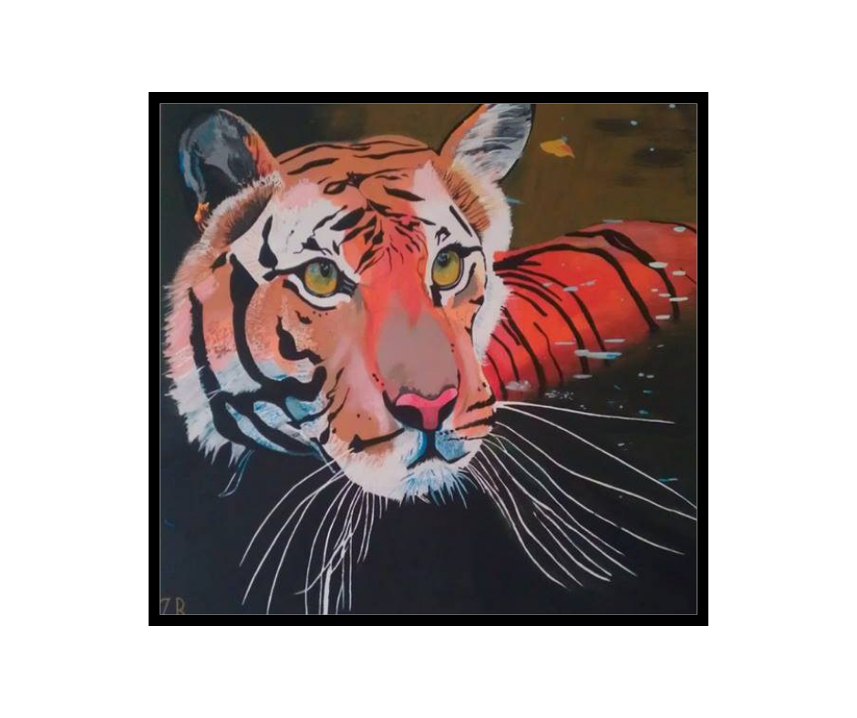 Tiger painting -  how all my l credentials help me to teach my students